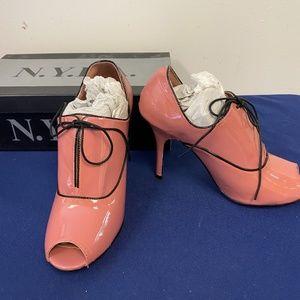 N.Y.L.A Pink Leather Heels